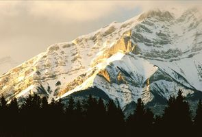 Cascade Mtn.  Taken from balcony with long lens.  Famous mtn in Banff townsite.